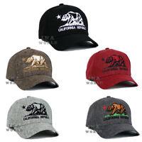 California Republic hat CA Classic Bear Logo Snapback Curved bill Baseball cap