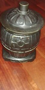 McCoy Black Pot Bellied Stove Cookie Jar