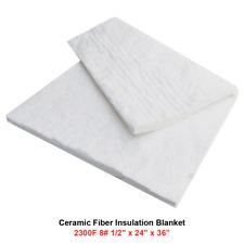 12 Ceramic Fiber Insulation Blanket 2300f 8 High Temp Insulation 24 X 36