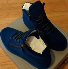 $895 Mens Giuseppe Zanotti Velvet Spray High-Top Sneakers Petrolio 45 US 12