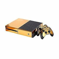 NDAD Full Body Golden Protective Vinyl Skin Decal for Xbox One Console