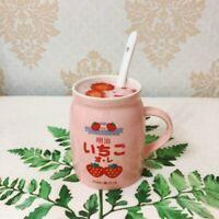 Japanese Strawberry Milk Cup Mugs Ceramic Tea Coffee Kawaii Cute Pink Gift Chic