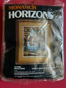 *VINTAGE NEEDLEPOINT* 1984 MONARCH HORIZONS * AUTUMN REFLECTIONS* kit