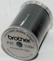 Brother Embroidery Machine Bobbin Thread 1100m - BLACK - A874