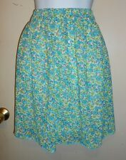 Architect Ladies Floral Chiffon Skirt Multi Teal Medium (M) NWT