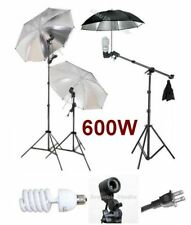 Photography Studio Video Umbrella Boom Stand Light Kit