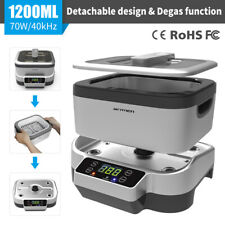 0.31Gallon Ultrasonic Jewelry Cleaner Sonic Timer Degas Household Cleaning Tools