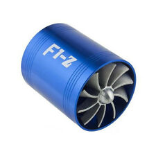 F1-Z Double Supercharger Turbine Turbo charger Air Intake Fuel Saver Fan Kit