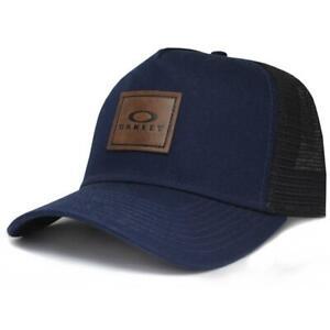 Oakley Drainer Adjustable Mens Trucker Cap Foggy Blue Navy Boys Baseball Hat