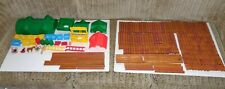 Lot Lincoln Logs 285 Pieces Logs, Roofs, Gates, Windows, People, Ladders, etc.