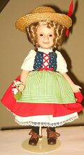 Shirley Temple 'Heidi' Porcelain Collector'S Doll From The Danbury Mint Dolls