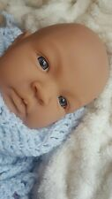 22mm Reborn Baby Doll Eyes Half Round Acrylic Eyes Newborn Blue