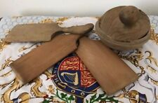 More details for collection of antique 19th c butter pats with a sycamore butter press stamp