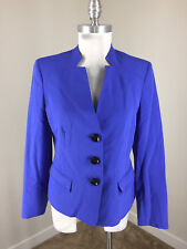 Kasper 6 Royal Blue Blazer Jacket Excellent Career Cocktail