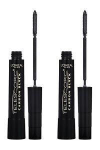 L'Oréal Paris Telescopic Lengthening Mascara, 935 Carbon Black (Pack of 2)