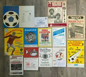 1970's - 1980's LIVERPOOL AWAYS RARE FOREIGN MATCH COLLECTION INC 1984 EC FINAL