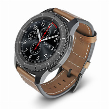 Samsung Gear S3 Frontier Classic Genuine Leather Wrist Band Watch Strap Brown