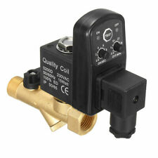 1pc AC220V Electronic Timed 2-way Air Compressor Gas Tank Automatic Drain Valve