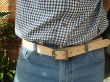 """THICK NATURAL VEG TAN LEATHER BELT TO FIT WAIST 32"""" - 40"""""""