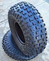 TWO 22-11-8 ATV Knobby Tires Tire Tubeless 22x11-8 22x11.00-8