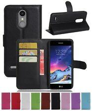 Wallet Leather Flip Card Holder Case Pouch Cover For LG K4 2017 Genuine AuSeller