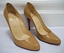 CHRISTIAN LOUBOUTIN $595 Decollete nude leather pumps heels size 39 WORN ONCE