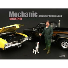 CUSTOMER PATRICK AND DOG FIGURES 1:18 SCALE MODEL BY AMERICAN DIORAMA 77448