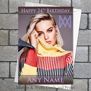 Anne-Marie personalised birthday card. 5x7 inches. Plus envelope.