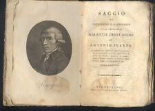 A.Scarpa,Saggio di osservazioni e d'esperienze sulle malattie degli occhi,1802 R