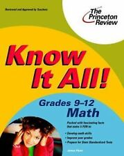 Know It All! Grades 9-12 Math (K-12 Study Aids)-ExLibrary