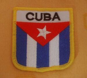 Kuba Cuba Aufnäher Aufbügler Wappen Patch Flagge