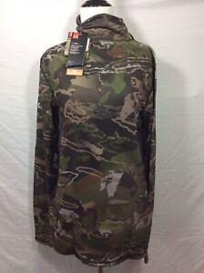 Under Armour Women's XL Coldgear Mid Season Reversible Wool Base Crew Camo Shirt
