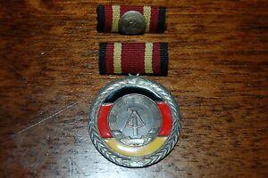 DDR Orden Medaille Verdienstmedaille der DDR mit Interimsspange