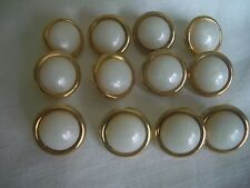 GOLD DOMED SHAPE WITH RIM  BUTTONS x 10  FREE P/&P