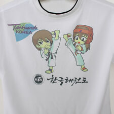 Taekwondo Summer Unisex-Clothing White Short Sleeve Round T-Shirt Kids Children