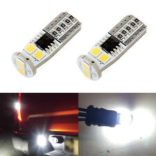 Total 1000LM 6000K White T10 168 194 2825 W5W Tag License Plate Light Bulbs