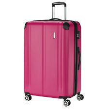 travelite CITY Beere Pink 77cm XL 124Ltr. Trolley erweiterbar 4 Rad Reisekoffer