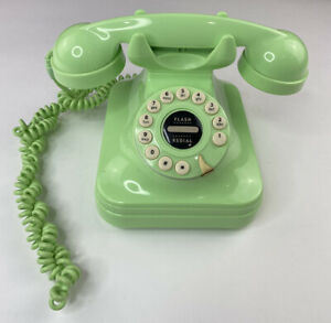 Pottery Barn Green Grand Cradle Telephone, Push Button Rotary Style, Corded