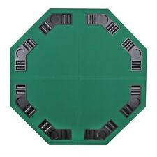 "48"" Octagon 8 Player Foldable Poker Table Top BLACKJACK TEXAS HOLDEM GAME W/Bag"