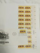 #1528 Horse Racing 10 cent Plate Block of 20 Mnh & ArtCraft First Day Cover