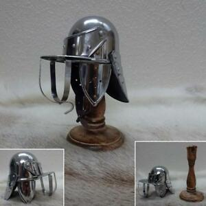 Mini English Civil War Lobster Pot Helmet and Stand. A Great Decoration Piece