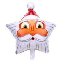Christmas Santa Claus Balloon Aluminum Foil Xmas Balloons Double Sided Star