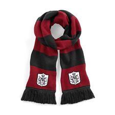 Retro Fulham 1960s Nero/Rosso Calcio Sciarpa logo ricamato
