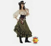 Limit Wild West Girl Costume Size Large Hat Checked Skirt Top