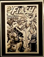 DC Comics THE FLASH #170 Rare Production Art Cover Brian Bolland JUSTICE LEAGUE