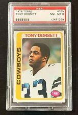 1978 TOPPS  #315 TONY DORSETT ROOKIE CARD RC PSA 8 DALLAS COWBOYS RUNNING BACK