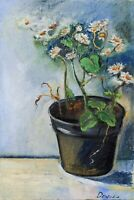 chamomile in a pot Still Life oil painting 8 x 12in 20x30cm