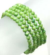 Multi-strands green shell bead bracelet with sliding tube clasp BRL330004