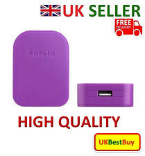 Foldable Single USB Port UK Charger For iPhone Samsung Sony Purple Colour - UK