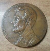 1809-1909 100th Anniversary Birth of Abraham Lincoln GAR Medallion Metal